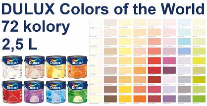 DULUX Colors of the World - emulsja lateksowa 2,5L, 72 kolory do wyboru