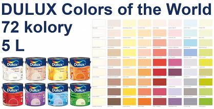 DULUX Colors of the World - emulsja lateksowa 5L, 72 kolory do wyboru
