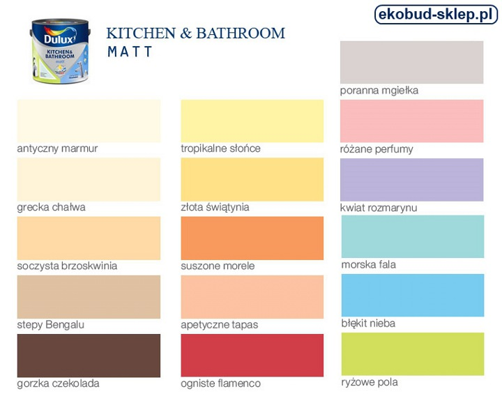 Dulux Kitchen And Bathroom Paint Colour Chart